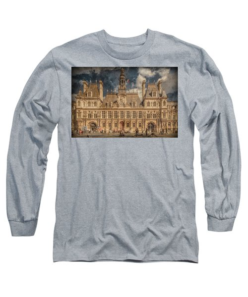 Paris, France - Hotel De Ville Long Sleeve T-Shirt
