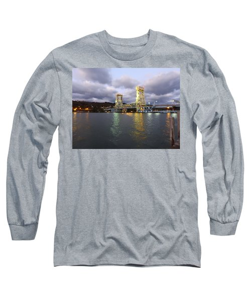 Long Sleeve T-Shirt featuring the photograph Houghton - Hancock Bridge by Janice Adomeit