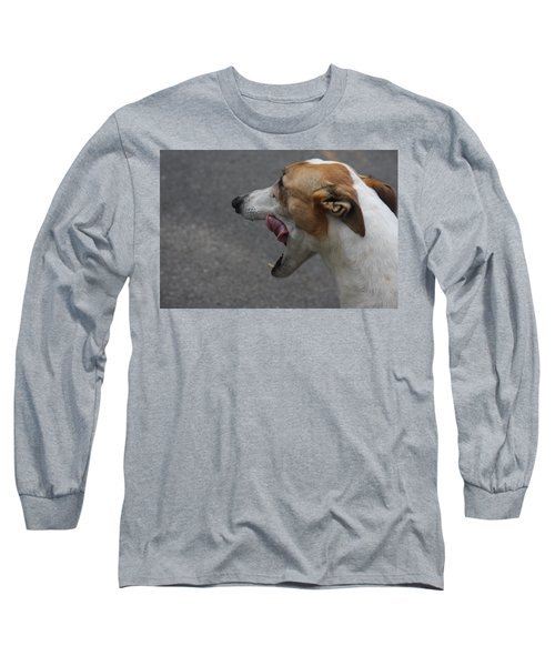 Hound Portrait Long Sleeve T-Shirt by Vadim Levin
