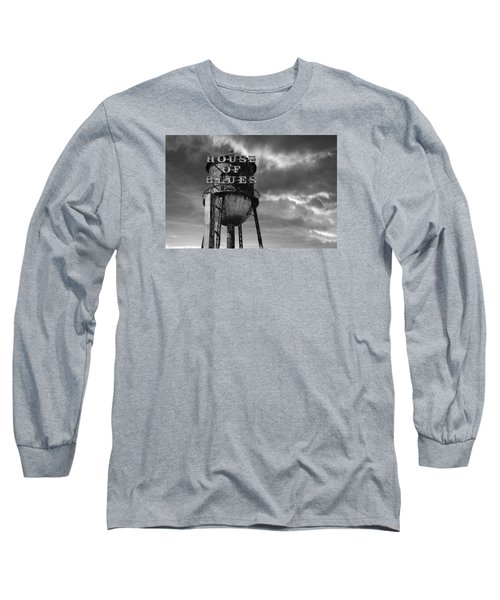 Long Sleeve T-Shirt featuring the photograph House Of Blues B/w by Laura Fasulo