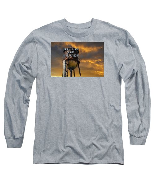 Long Sleeve T-Shirt featuring the photograph House Of Blues  by Laura Fasulo