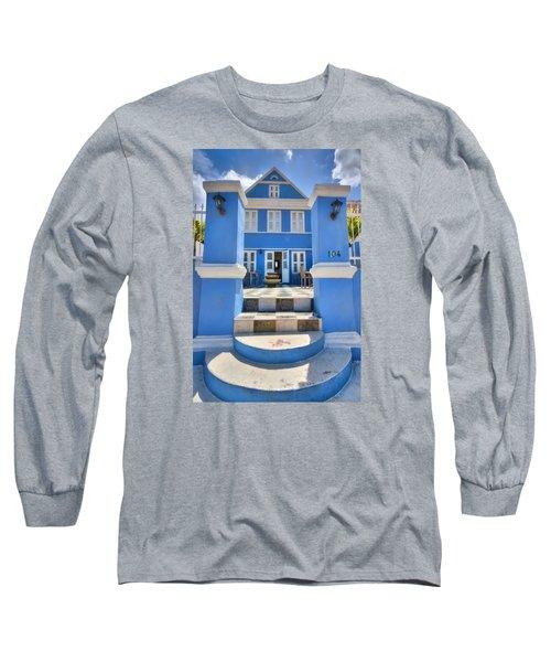 House Of Blues Long Sleeve T-Shirt by Nadia Sanowar