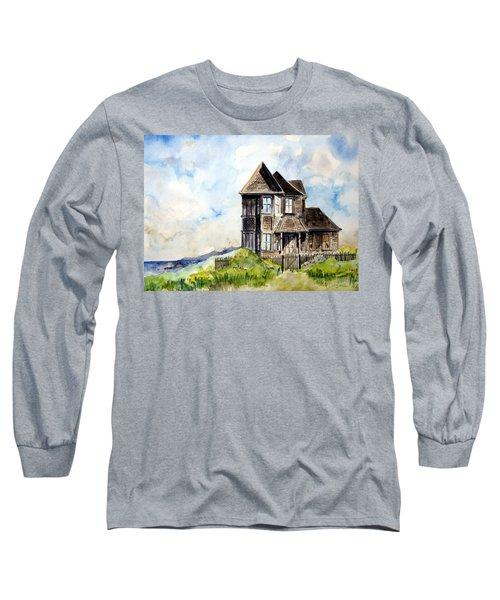 House On Little Lake Street Mendocino Long Sleeve T-Shirt