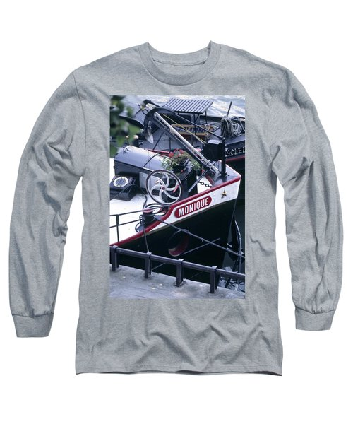 Houseboat In France Long Sleeve T-Shirt