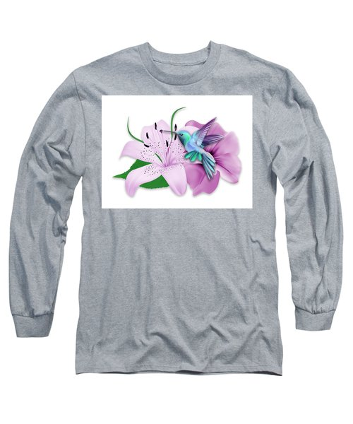 Long Sleeve T-Shirt featuring the mixed media Hovering by Marvin Blaine