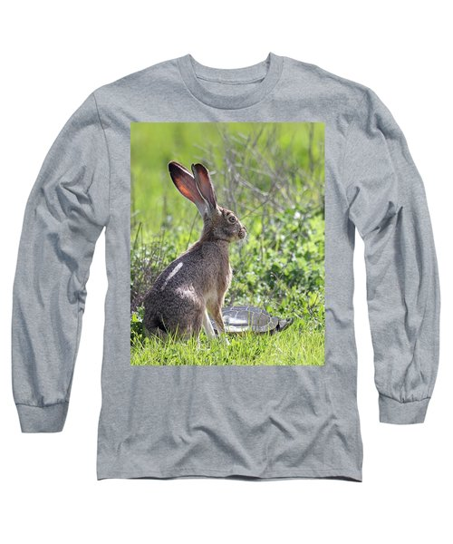 How About Two Out Of Three In Portrait Long Sleeve T-Shirt