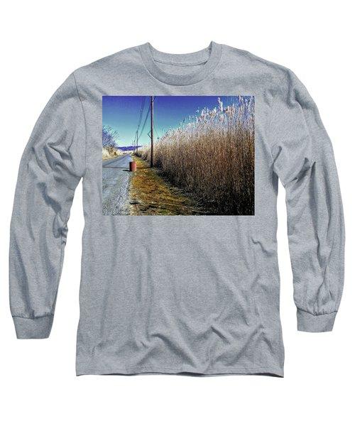 Hudson River Winter Walk Long Sleeve T-Shirt