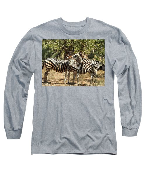 Long Sleeve T-Shirt featuring the photograph Hug Time by Betty-Anne McDonald