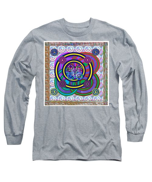 Hula Hoop Circles Tubes Girls Games Abstract Colorful Wallart Interior Decorations Artwork By Navinj Long Sleeve T-Shirt
