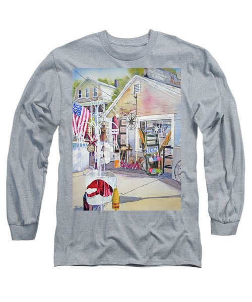 Hull Of A Shoppe Long Sleeve T-Shirt by P Anthony Visco