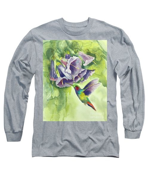 Hummingbird And Trumpets Long Sleeve T-Shirt