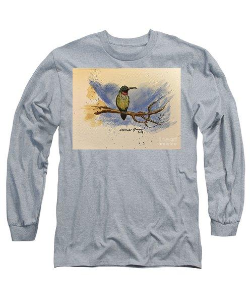 Hummingbird At Rest Long Sleeve T-Shirt