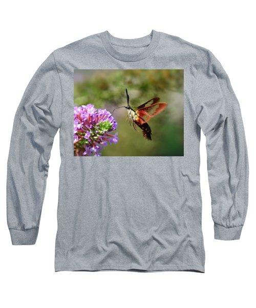 Hummingbird Clearwing Moth Long Sleeve T-Shirt