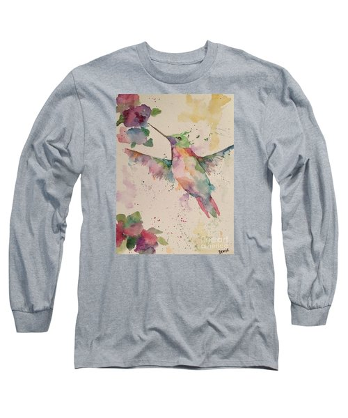 Hummingbird Long Sleeve T-Shirt by Denise Tomasura