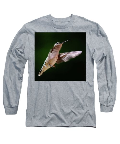 Hummingbird In Flight Long Sleeve T-Shirt