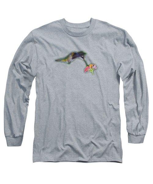 Hummingbird Tee-shirt Long Sleeve T-Shirt by Donna Brown