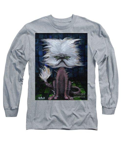 Humorous Cat Long Sleeve T-Shirt