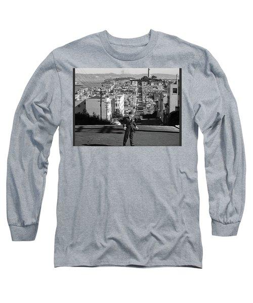 Humphrey Bogart Film Noir Dark Passage Telegraph Hill And Coit Tower San Francisco 1947 Long Sleeve T-Shirt