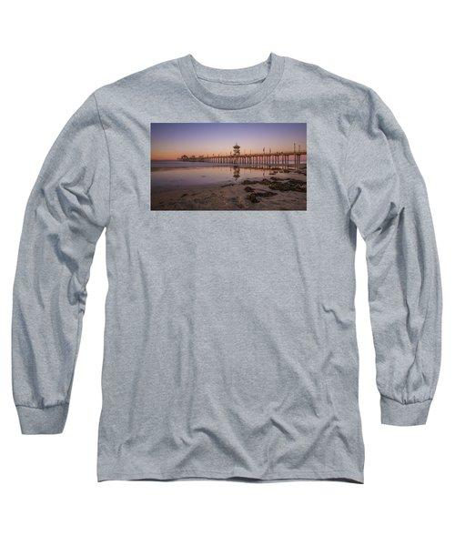 Long Sleeve T-Shirt featuring the photograph Huntington Beach Pier by Sean Foster