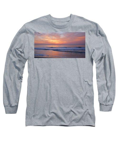 Huntington Beach Sunrise, Nc Long Sleeve T-Shirt by Alan Lenk