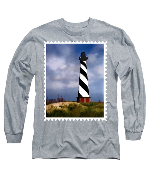 Hurricane Coming At Cape Hatteras Lighthouse Long Sleeve T-Shirt