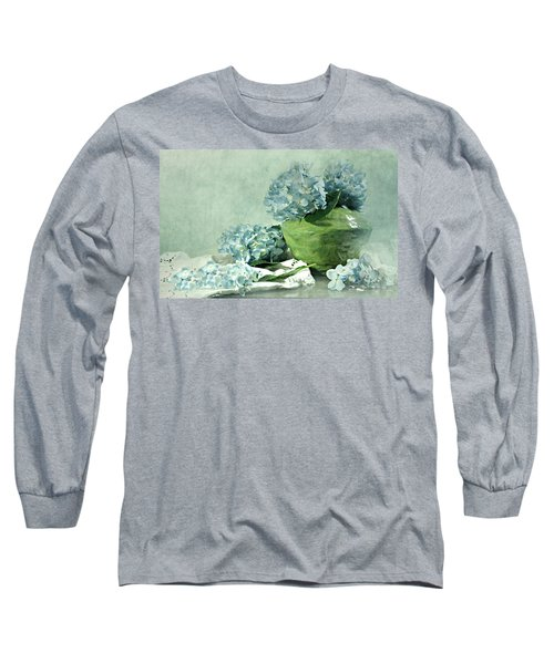 Hydra Blues Long Sleeve T-Shirt by Diana Angstadt
