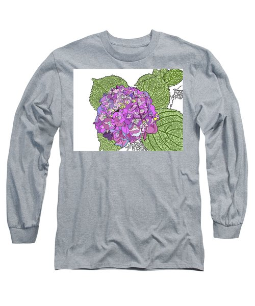 Hydrangea Long Sleeve T-Shirt by Jamie Downs