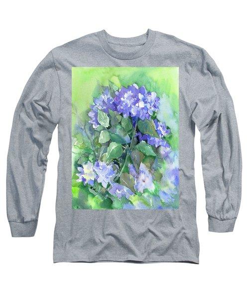Hydrangea Long Sleeve T-Shirt by Suren Nersisyan