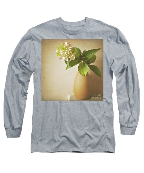 Hydrangea With Leaves Long Sleeve T-Shirt