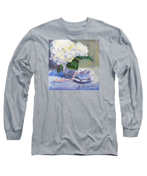 Hydrangeas With Pearls  Long Sleeve T-Shirt