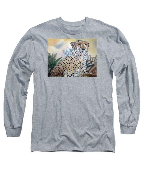 I Am Cheetah 2 Long Sleeve T-Shirt by Marilyn  McNish