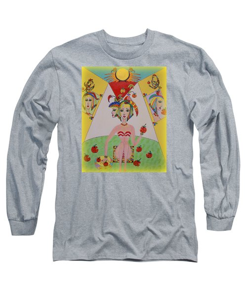 I Don't Like This Apple Long Sleeve T-Shirt by Marie Schwarzer