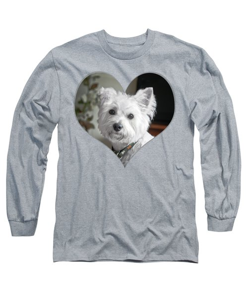 I Heart Puppy On A Transparent Background Long Sleeve T-Shirt
