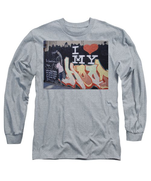 Long Sleeve T-Shirt featuring the photograph I Love My Hood by Cole Thompson