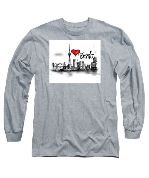 I Love Toronto Long Sleeve T-Shirt by Sladjana Lazarevic