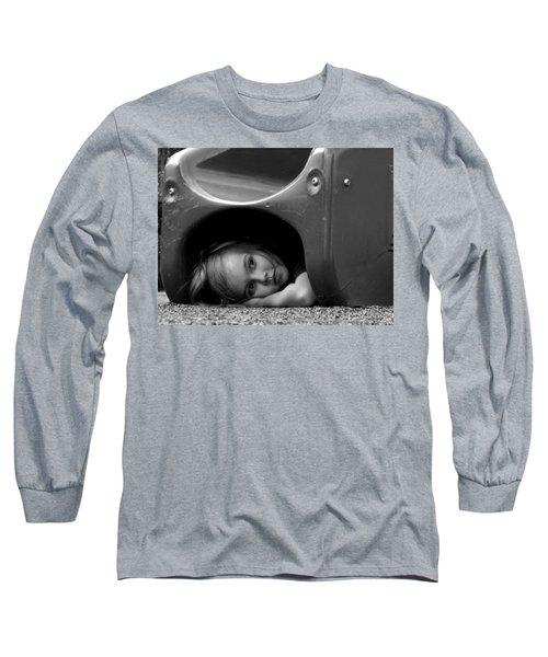 I Need A Playmate Long Sleeve T-Shirt by Chris Mercer