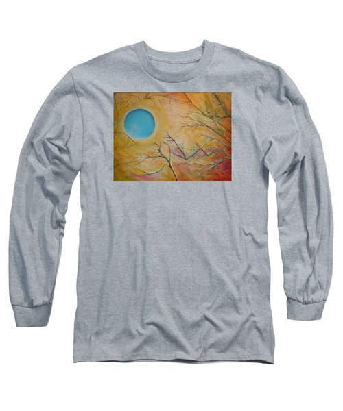 Long Sleeve T-Shirt featuring the painting I Saw You Standing Alone by Dan Whittemore