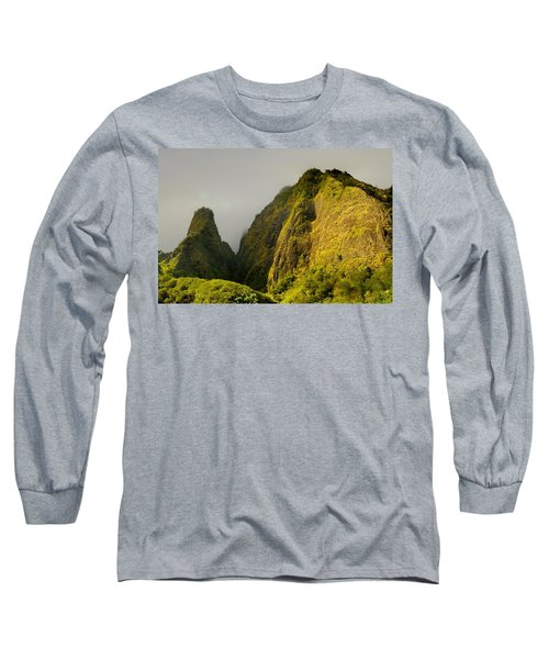 Iao Needle And Mountain Long Sleeve T-Shirt