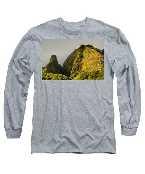 Iao Needle And Mountain Long Sleeve T-Shirt
