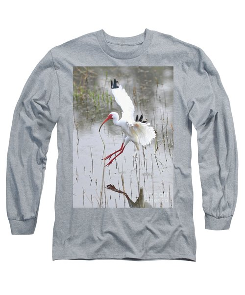 Ibis Soft Water Landing Long Sleeve T-Shirt by Carol Groenen