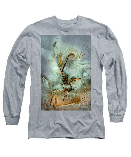 Long Sleeve T-Shirt featuring the photograph Ice Abstract by Tom Cameron
