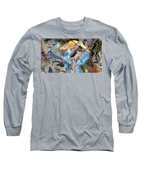 Ice And Fallen Leaves Long Sleeve T-Shirt