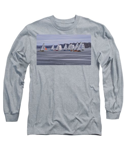 Ice Boat Racing - Madison - Wisconsin Long Sleeve T-Shirt
