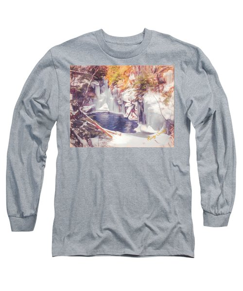 Ice Cold View Of Sages Ravine. Northwest Connecticut Long Sleeve T-Shirt