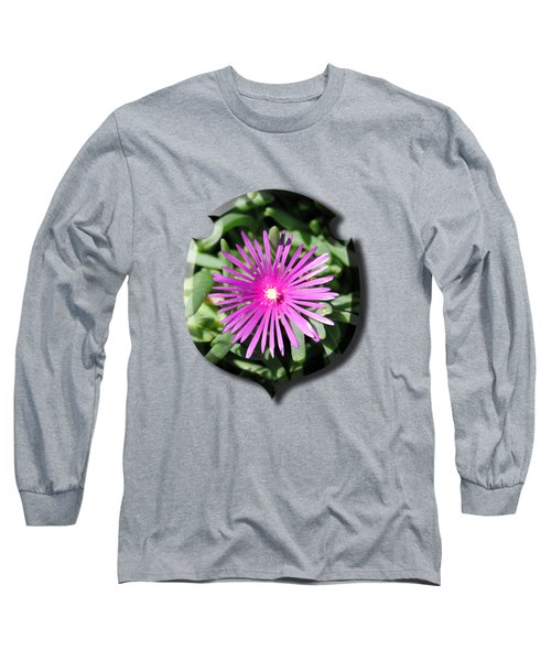 Ice Plant T-shirt Long Sleeve T-Shirt by Isam Awad