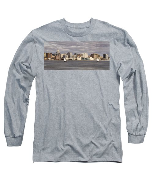 Ice Sailing - Lake Monona - Madison - Wisconsin Long Sleeve T-Shirt
