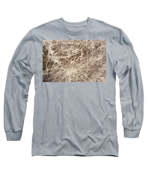 Long Sleeve T-Shirt featuring the photograph Ice Skating Marks by John Williams