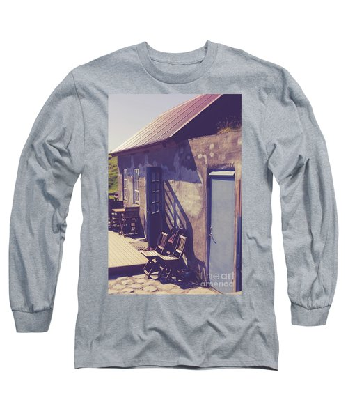 Long Sleeve T-Shirt featuring the photograph Icelandic Cafe by Edward Fielding