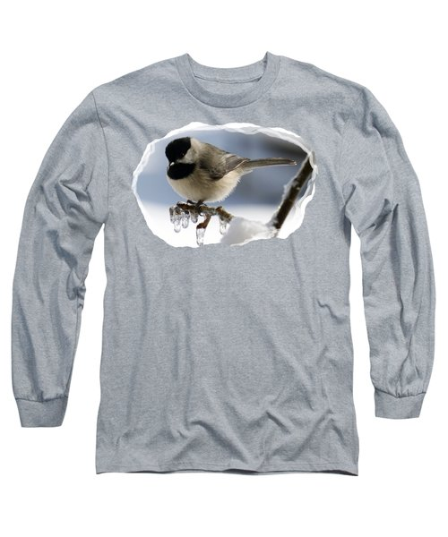 Icicle Perch Long Sleeve T-Shirt by Karen Beasley