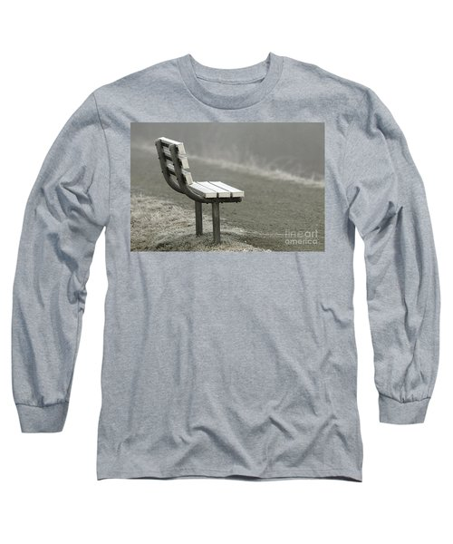 Icy Bench In The Fog Long Sleeve T-Shirt